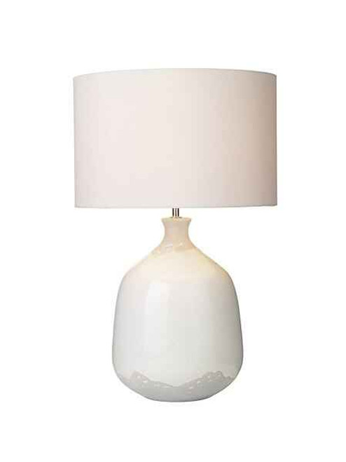 Nushrah Ceramic and White Table Lamp Base Only