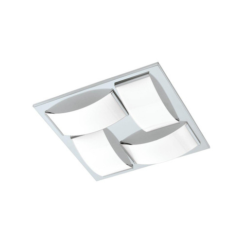 Eglo Lighting Wasao 1 4 Light Chrome with White Shade Wall and Ceiling Light