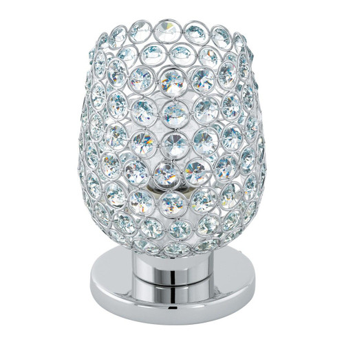 Eglo Lighting Bonares 1 Chrome with Clear Crystal Shade Table Lamp