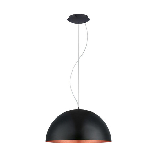 Eglo Lighting Gaetano 1 530 Black and Copper Pendant Light