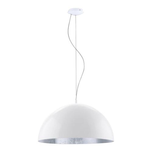 Eglo Lighting Gaetano 1 530 White and Silver Pendant Light