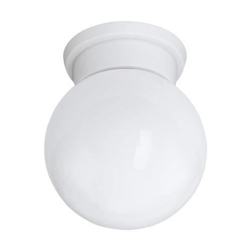 Eglo Lighting Durelio White with Glass Shade Ceiling Light