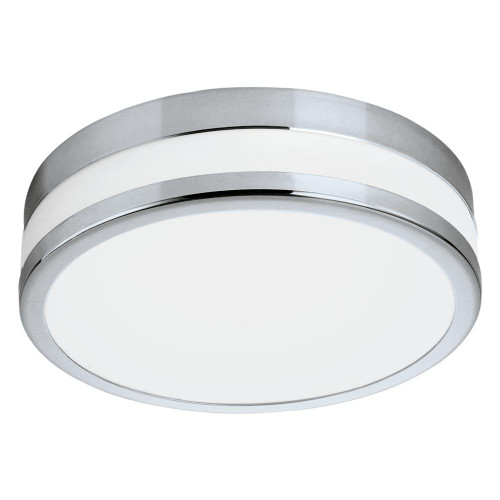 Eglo Lighting LED Palermo 295 Chrome with Satin Glass Wall and Ceiling Light