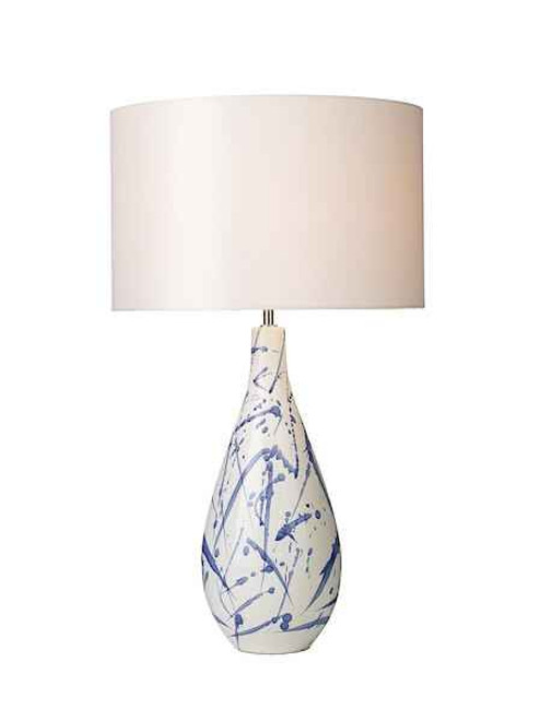 Olka Ceramic & Blue Table Lamp Base Only