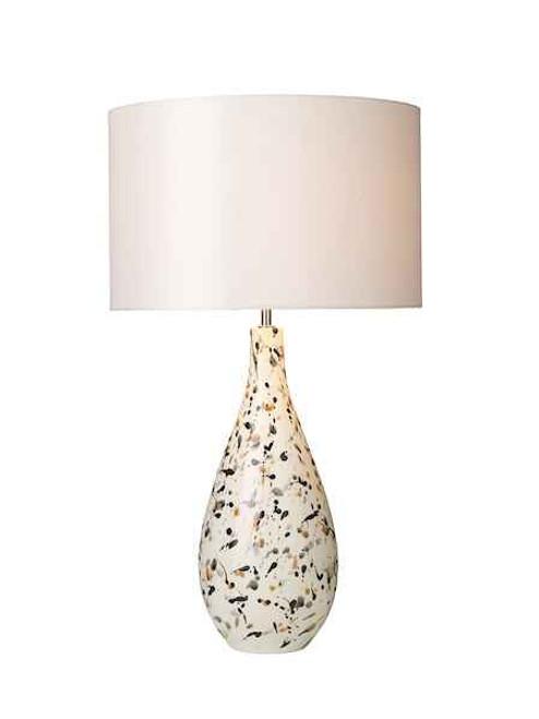 Olka Ceramic & Brown Table Lamp Base Only