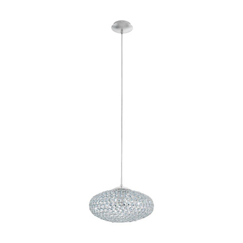 Eglo Lighting Clemente350 Chrome with Crystal Shade Pendant Light