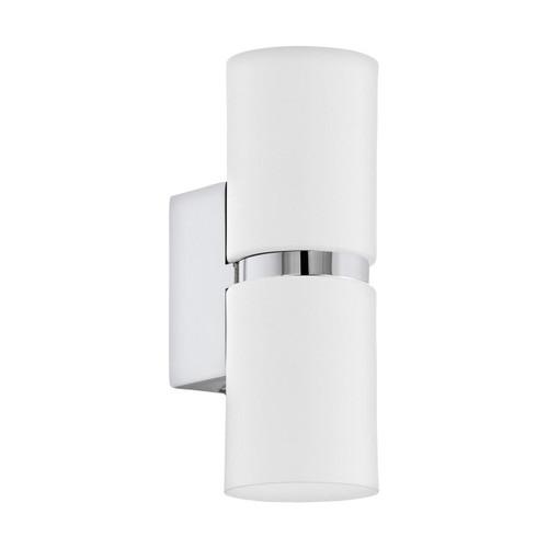 Eglo Lighting Passa 60 Chrome and White Up/Down Wall Light