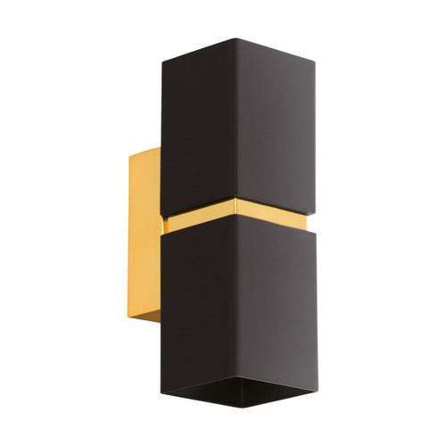 Eglo Lighting Passa Black and Gold Up/Down Wall Light