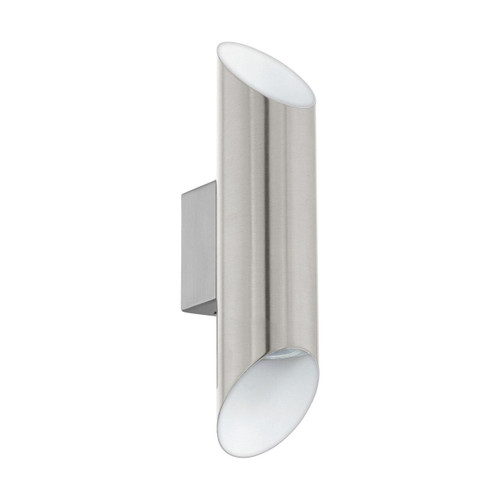 Eglo Lighting Viegas Satin Nickel and White Up/Down Wall Light