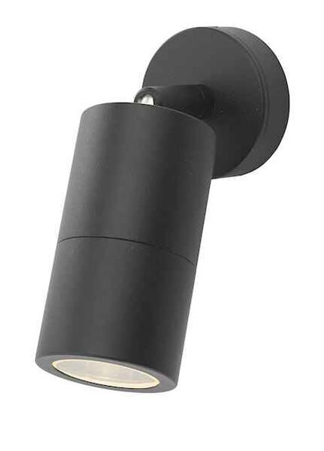 Ortega 1 Light Black IP65 Wall Light