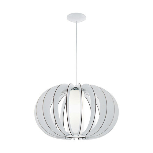 Eglo Lighting Stellato 2 500 White with Wood and Glass Shade Pendant light
