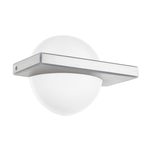 Eglo Lighting Boldo Brushed Aluminium with White Shade Wall Light