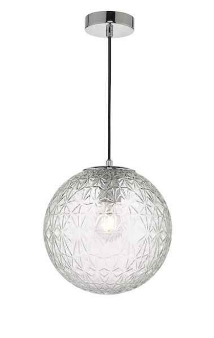 Ossian Polished Chrome And Clear Glass Small Pendant Light