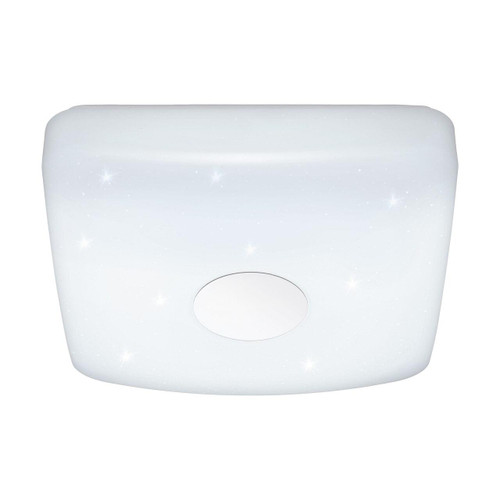 Eglo Lighting Voltago 2 275 White with Crystal effect Shade Wall and Ceiling Light