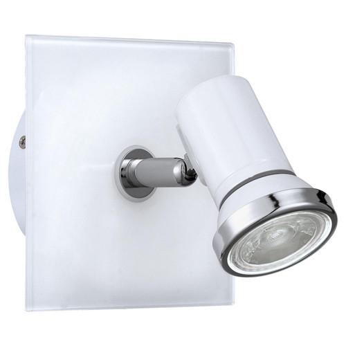 Eglo Lighting Tamara 1 White and Chrome Spotlight
