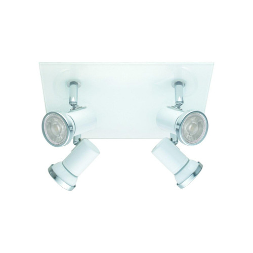 Eglo Lighting Tamara 1 4 Light Square White and Chrome Spotlight