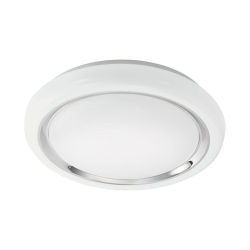 Eglo Lighting Capasso 340 White with White and Chrome Shade Wall and Ceiling Light