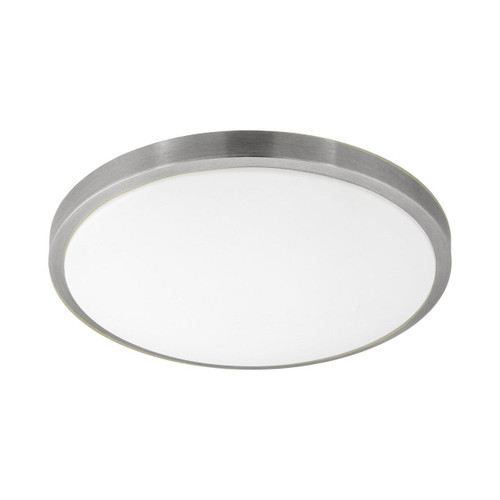 Eglo Lighting Competa 1 430 White with Satin Nickel and White Shade Wall and Ceiling Light