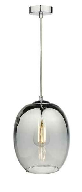Patrice Silver Glass and Polished Chrome Pendant