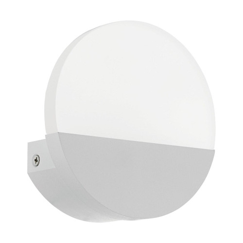 Eglo Lighting Metrass 1 White with Satined Shade Wall Light