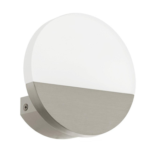 Eglo Lighting Metrass 1 Satin Nickel with Satined Shade Wall Light