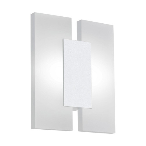Eglo Lighting Metrass 2 White with Satined Shade Wall Light