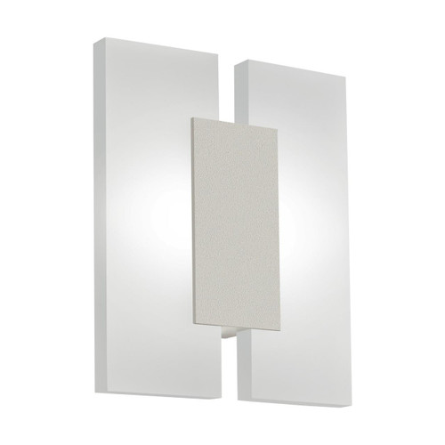 Eglo Lighting Metrass 2 Satin Nickel with Satined Shade Wall Light