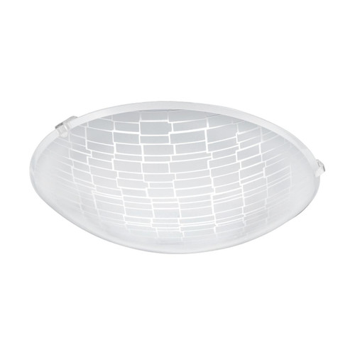 Eglo Lighting Malva 1 245 White with Clear White Decor Glass Wall and Ceiling Light
