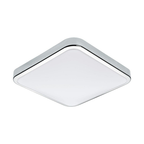 Eglo Lighting Manilva 1 Chrome with White Shade Wall Light