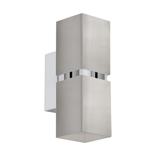 Eglo Lighting Passa 2 Light Satin Nickel and Chrome Up/Down Wall Light