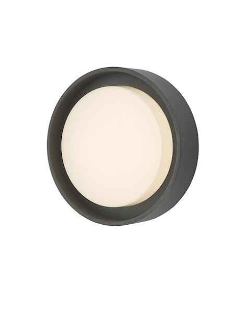 Ralph Small Anthracite IP65 LED Round Outdoor Wall Light