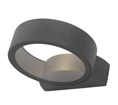 Reon Round Circle Anthracite LED Fixed IP65 Outdoor Wall Light