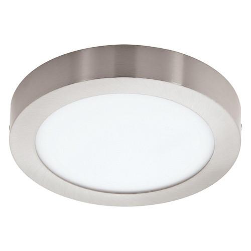 Eglo Lighting Fueva-C 225 Satin Nickel with White Shade LED RGB Surface Mounted Ceiling Light