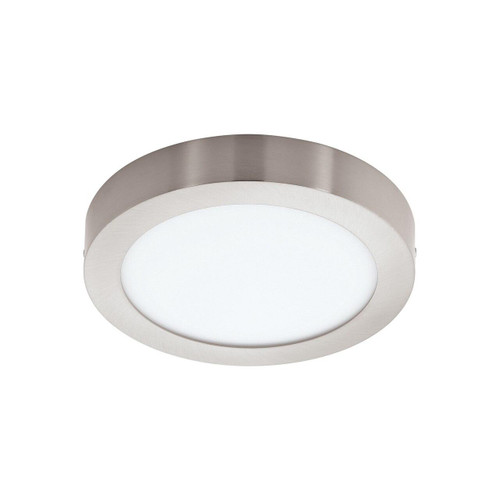 Eglo Lighting Fueva-C 300 Satin Nickel with White Shade LED RGB Surface Mounted Ceiling Light