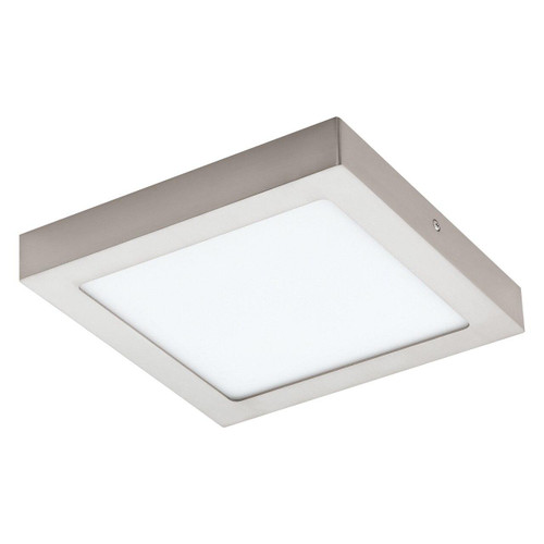 Eglo Lighting Fueva-C 225 ² Satin Nickel with White Shade LED RGB Surface Mounted Ceiling Light