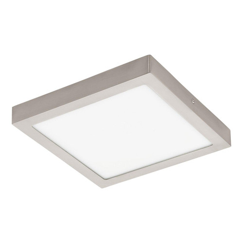 Eglo Lighting Fueva-C 300 ² Satin Nickel with White Shade LED RGB Surface Mounted Ceiling Light