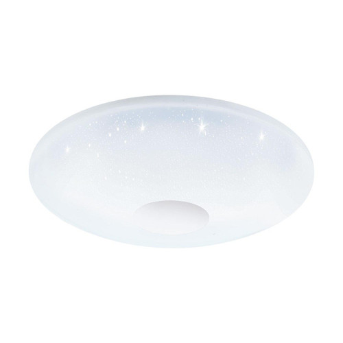 Eglo Lighting Voltago White with Crystal Effect LED RGB Wall and Ceiling Light