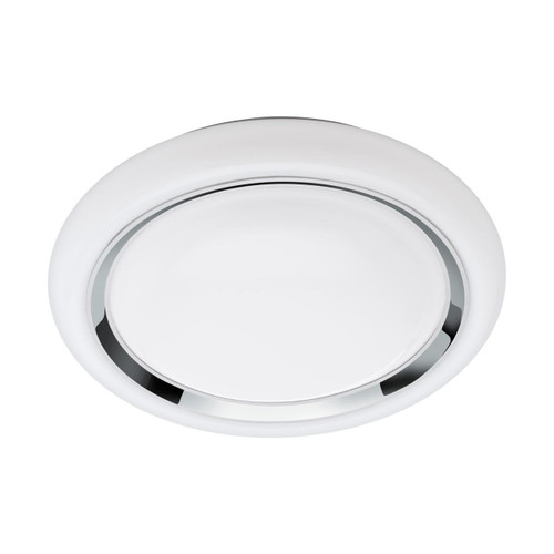 Eglo Lighting Capasso-C White with White and Chrome Shade LED RGB Wall and Ceiling Light
