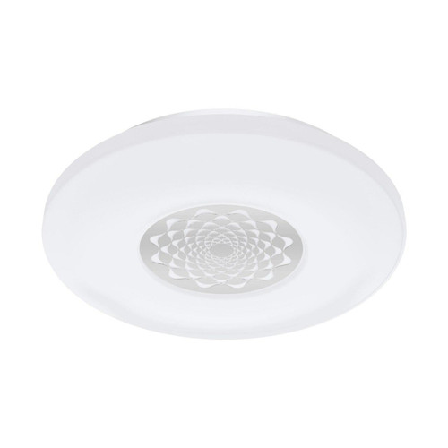 Eglo Lighting Competa-C White with White and Chrome Shade Wall and Ceiling Light