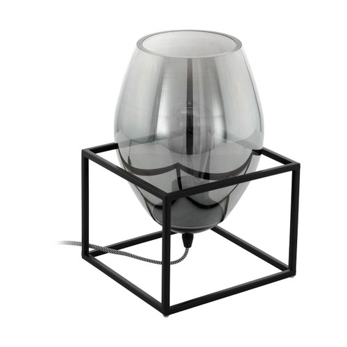 Eglo Lighting Olival 1 Black with Smoked Glass Shade Table Lamp