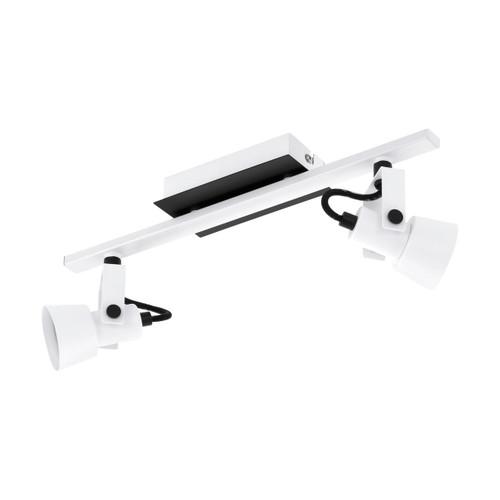 Eglo Lighting Trillo 2 Light White and Black Bar Spotlight