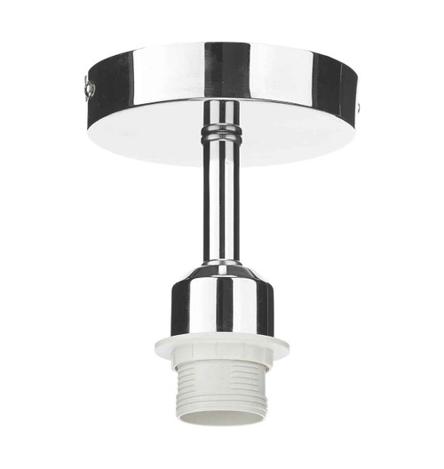 Accessory 1 Light Polished Chrome Semi Flush Pendant Lighting Suspension