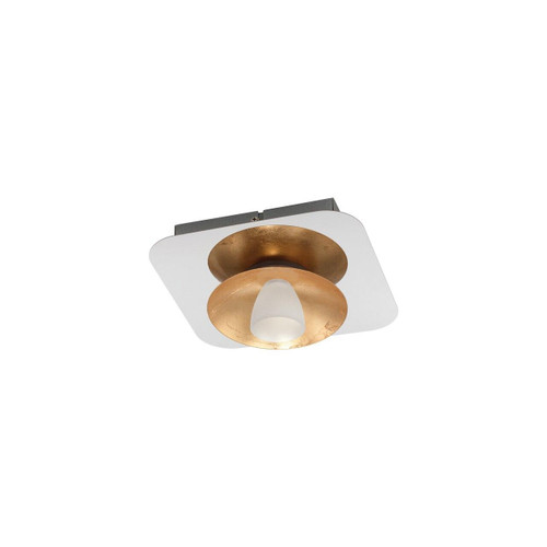 Eglo Lighting Torano Chrome and Gold with White Satin Glass Ceiling Light