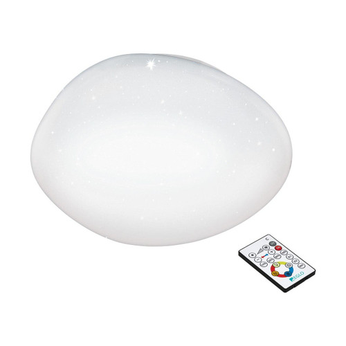 Eglo Lighting Sileras 450 White with White Crystal Effect Shade Wall and Ceiling Light