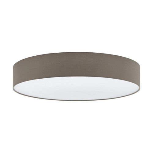 Eglo Lighting Pasteri 760 5 Light White with Taupe Fabric Shade Ceiling Light