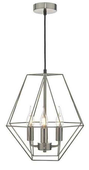 Simbala 4 Light Satin Chrome Pendant Light