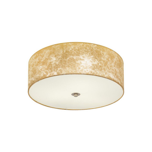 Eglo Lighting Viserbella 470 Champagne with Gold Fabric Shade Ceiling Light