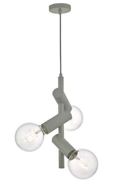 Sion 3 Light Grey Modern Pendant Light