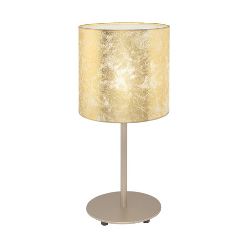 Eglo Lighting Viserbella Champagne with Gold Fabric Shade Table Lamp