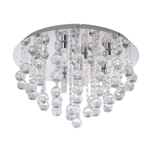 Eglo Lighting Almonte Chrome with Clear Crystal Shade Ceiling Light